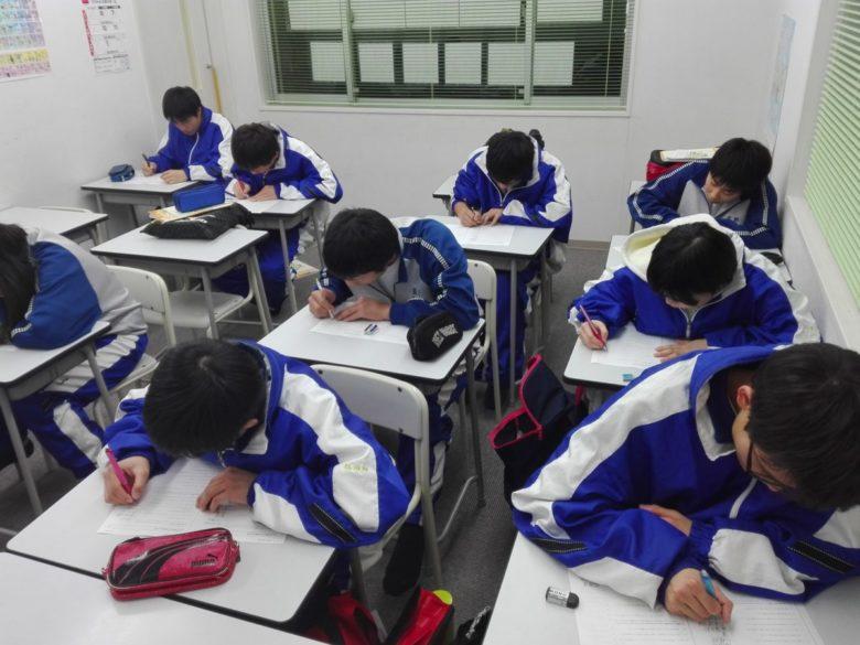 学年末テスト勉強開始(菰野中学校、八風中学校)