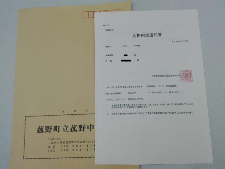 三重県前期試験合格速報(スタディー菰野校)