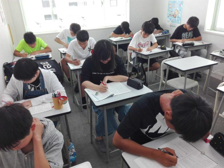 菰野中、八風中一学期期末テスト対策授業
