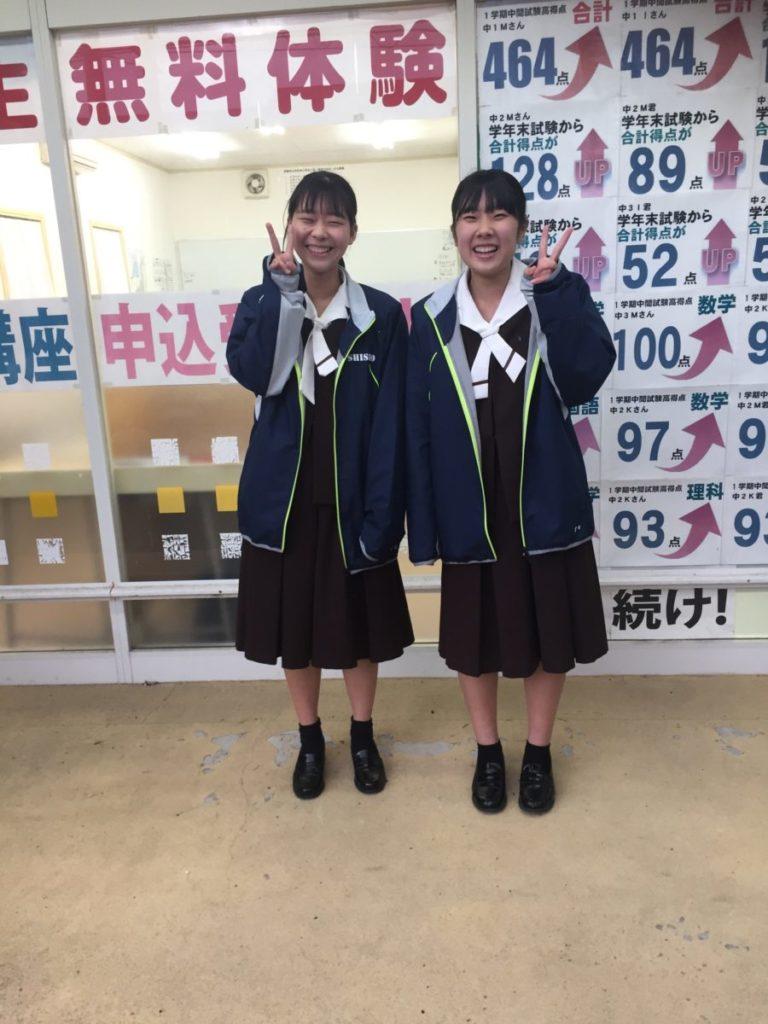 卒塾生が大矢知校を訪問してくれました
