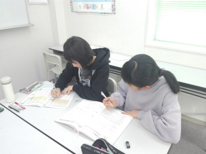菰野中学校学年末テスト前の自主勉強