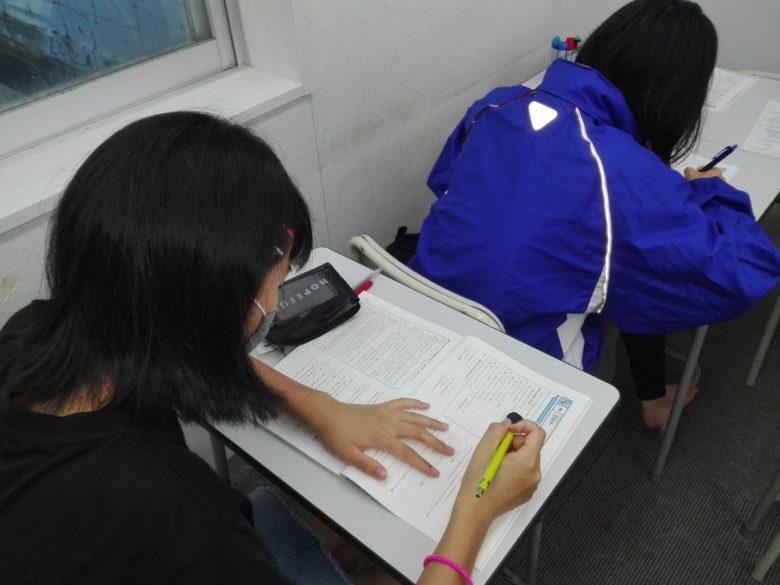 八風中学校テスト期間が始まりました。